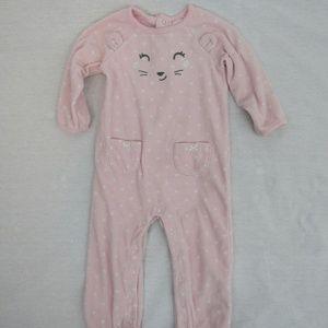 👶 Carters pink poke- a- dot bunny Pajamas
